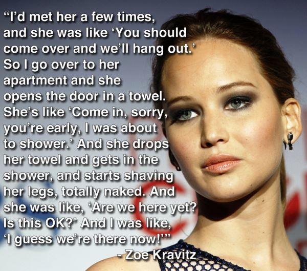 Zoe Kravitz Hangs Out With Jennifer Lawrence