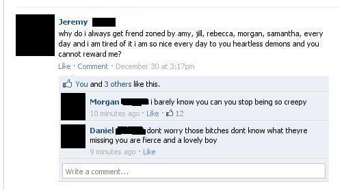 Awkward Facebook Posts Friendzoned