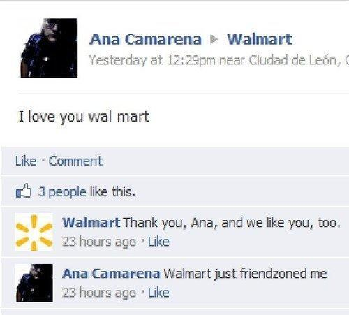 Awkward Moments On Facebook Walmart Zoned