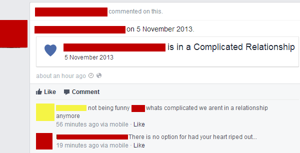 Complicated Relationships On Facebook