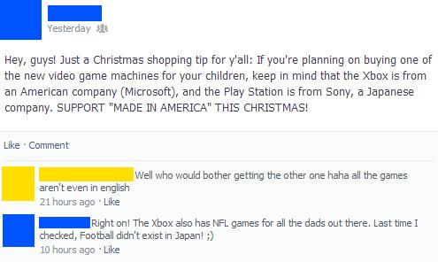Dumbest Things On Facebook Made In America