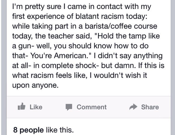 Dumbest Things On Facebook Racism
