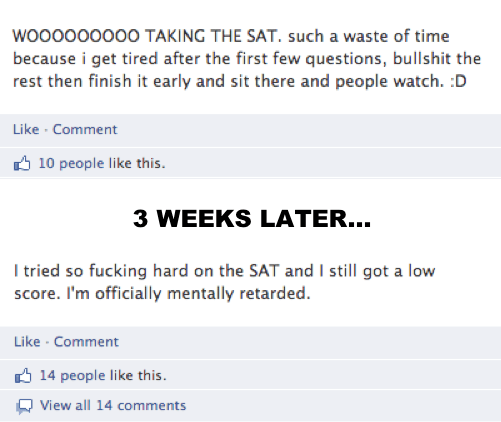 Dumbest Things On Facebook SATs