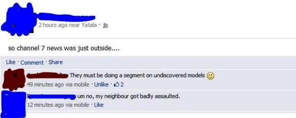 Flirting Fail On Facebook