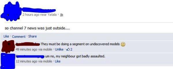 Flirting Fail On Facebook