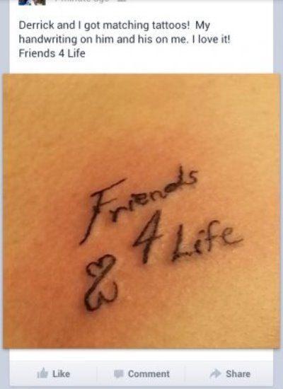 Friends 4 Life Tattoo