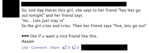 Most Powerful Story On Facebook