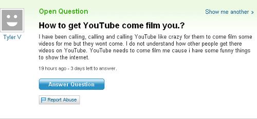 Dumb Yahoo Answers Question