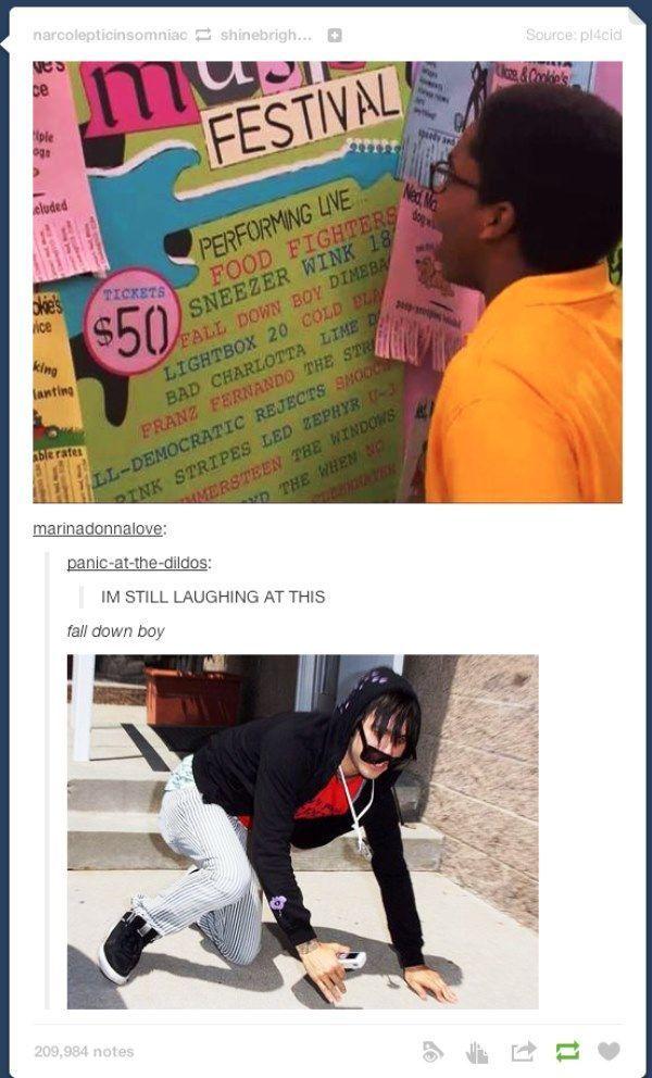 Fall Down Boy Tumblr