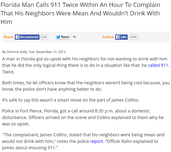 Florida Man Bad Neighbors