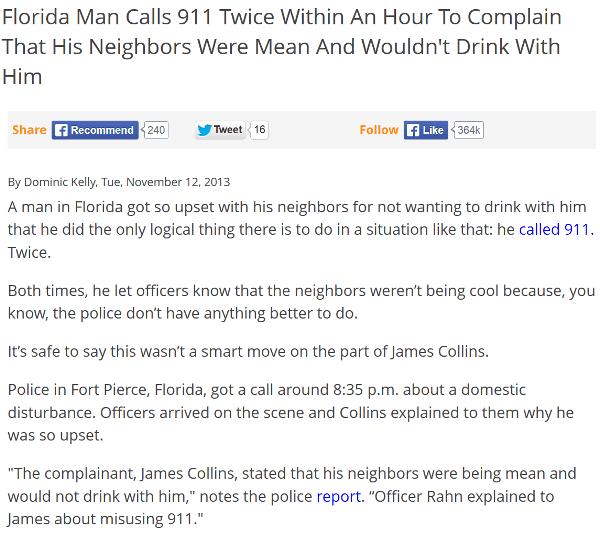 Florida Man Bad Neighbors