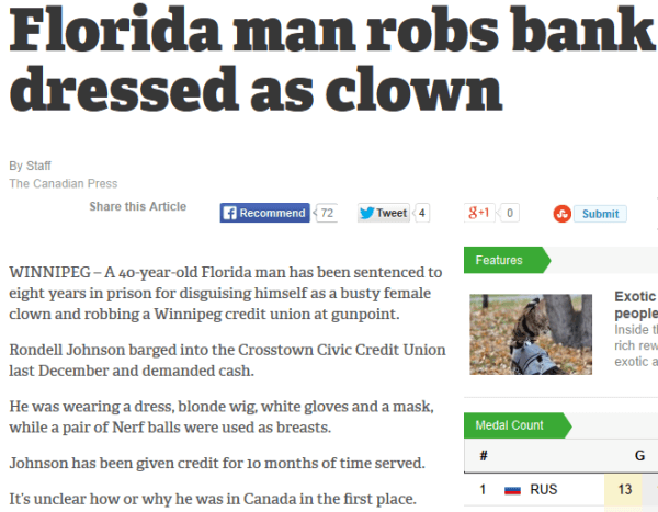 Florida Man Bank Robbery
