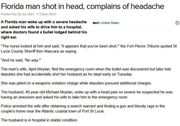 Florida Man Headache