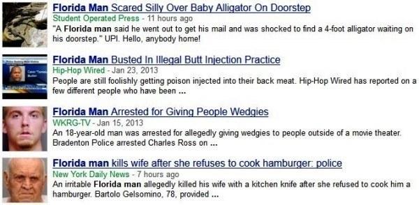 Florida Man Headlines