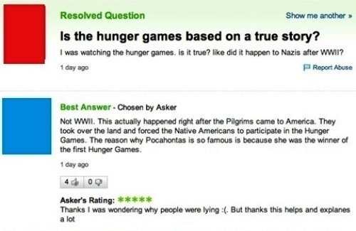Hunger Games Based On A True Story