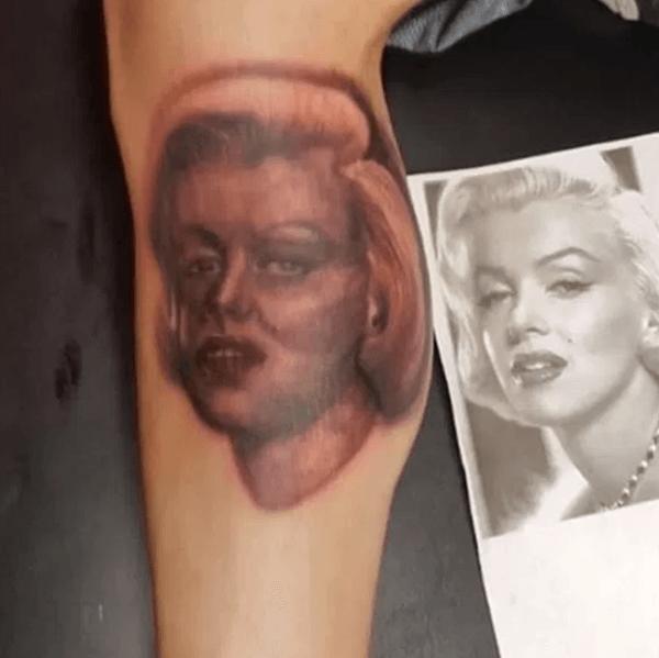 Marilyn Monroe Tattoo Fail