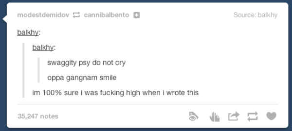 Posting On Tumblr High