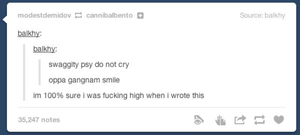 Posting On Tumblr High