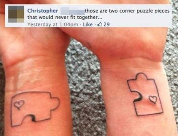 Puzzle Pieces Tattoo