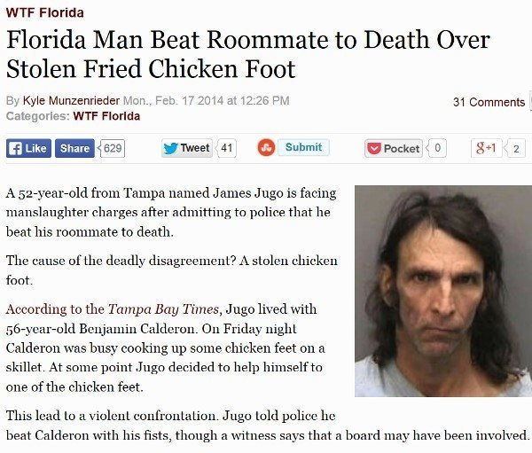 Stolen Chicken Foot Leads To Murder