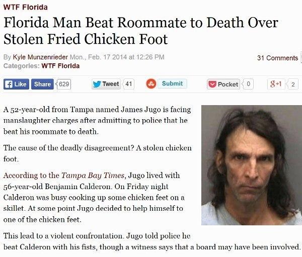 Stolen Chicken Foot Leads To Murder