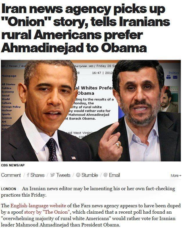 Americans Prefer Ahmadinejad