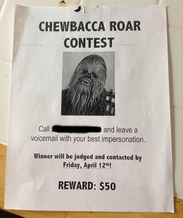 Chewbacca Contest