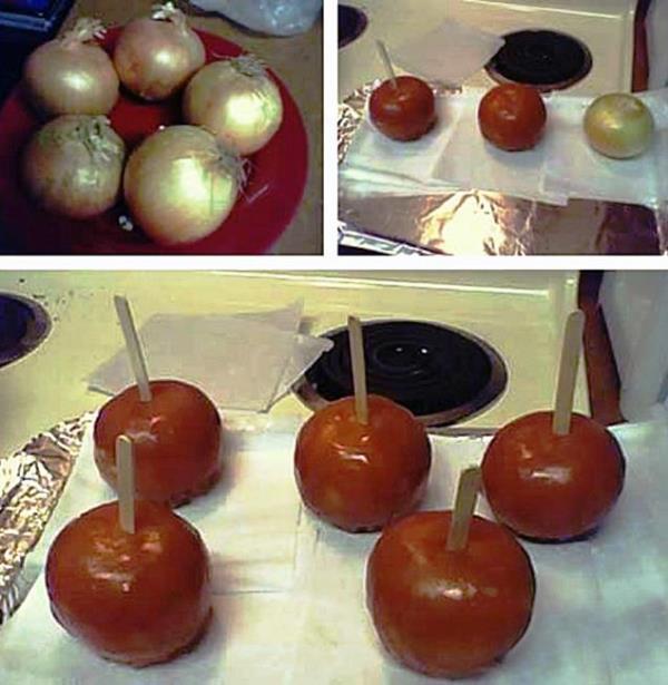 Genius Pranks Caramel Onions
