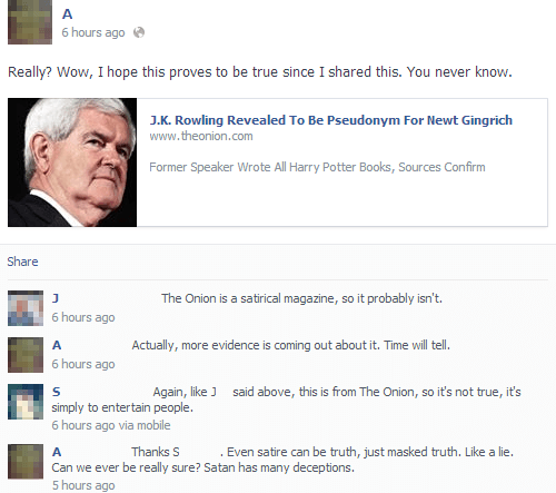 Literally Unbelievable Newt Gingrich Is JK Rowling