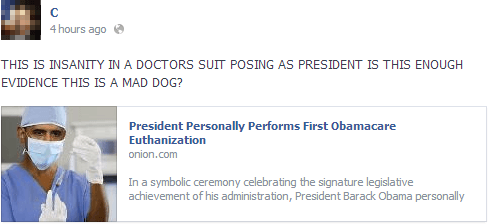 Literally Unbelievable Obamacare
