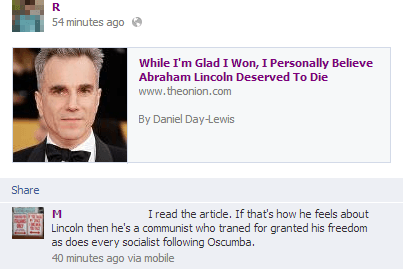 Onion Is Real Daniel Day Lewis