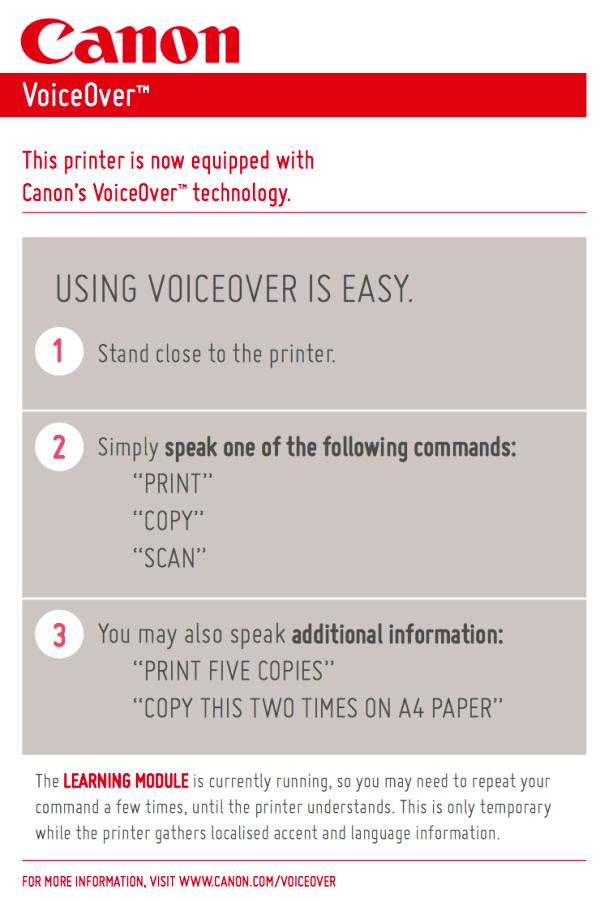 Printer Voice Command Prank