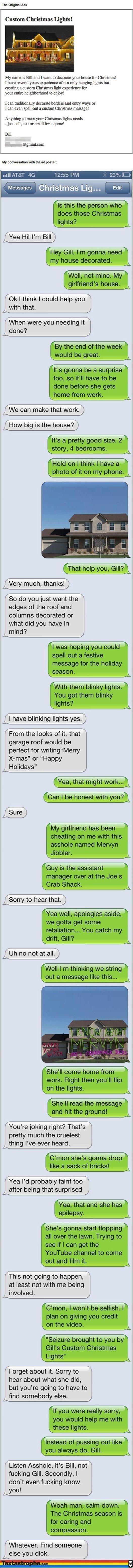 Text Pranks Christmas Lights