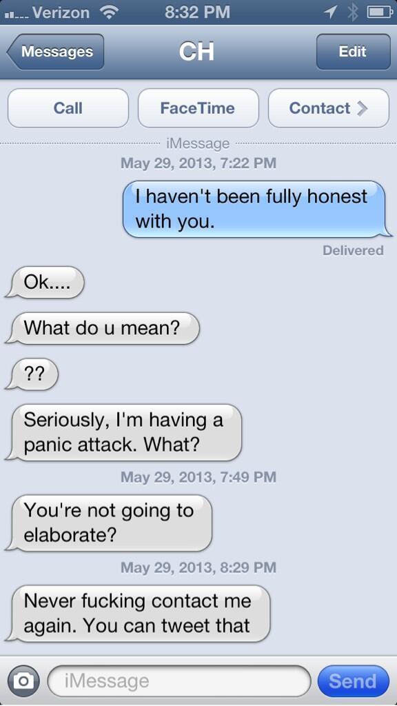 Text Pranks I Haven't Been Honest