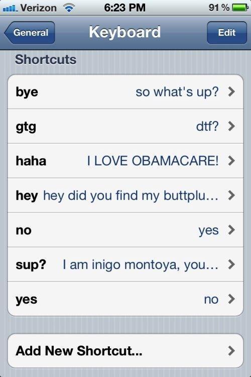 Text Shortcut Prank