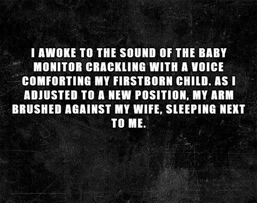 Two Sentence Horror Stories Comforting The Baby