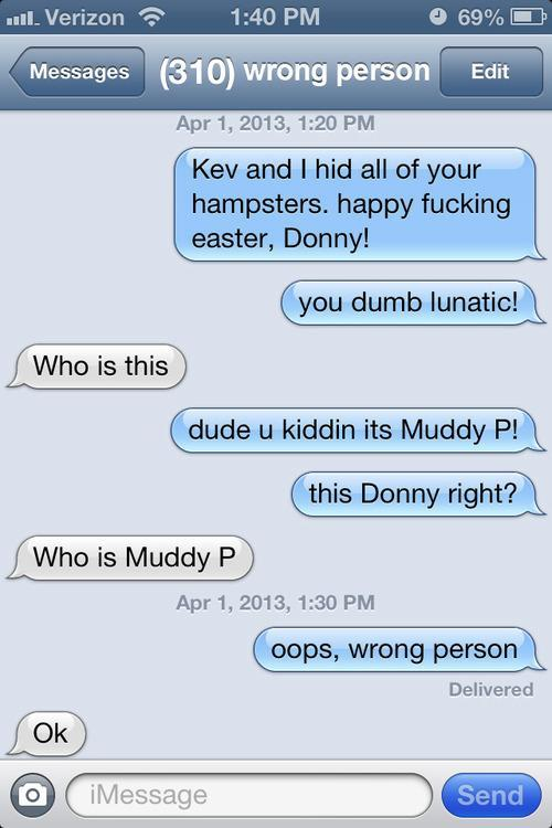 Wrong Person Text Prank