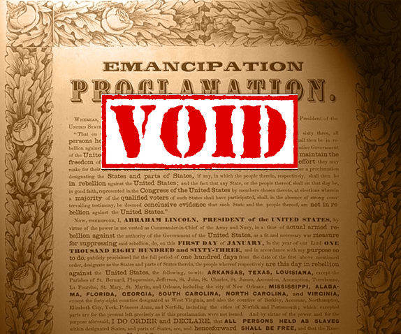 Voided Emanicpation Proclamation