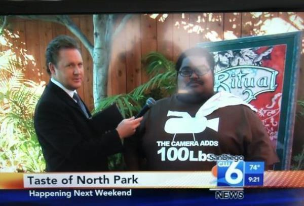 The Camera Adds 100 Pounds