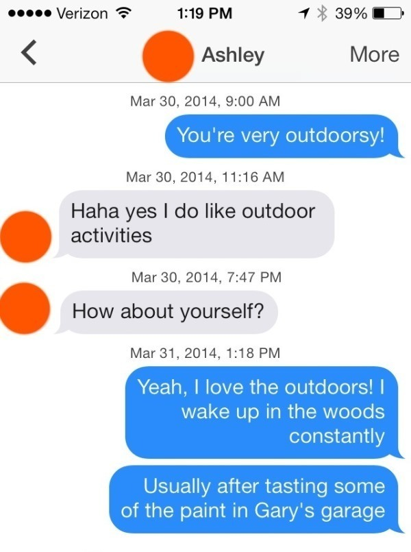 Outdoorsy Flirting