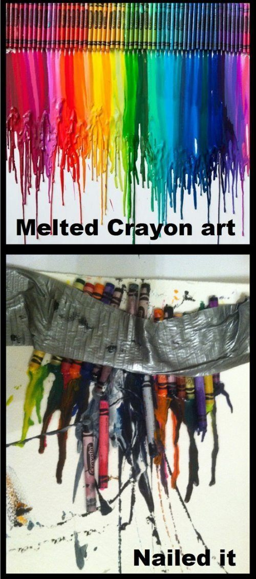 Pinterest Nailed It Melted Crayon Art
