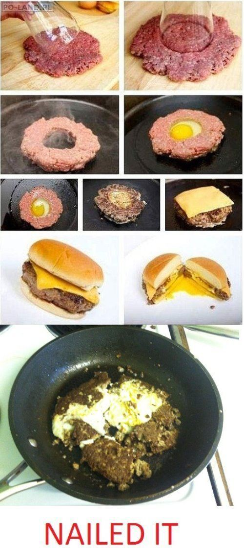 Pinterest Projects Nailed It Egg Hamburgers