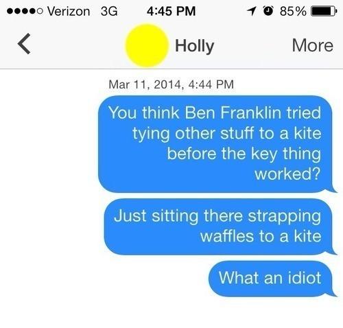 Tinder Lines Ben Franklin