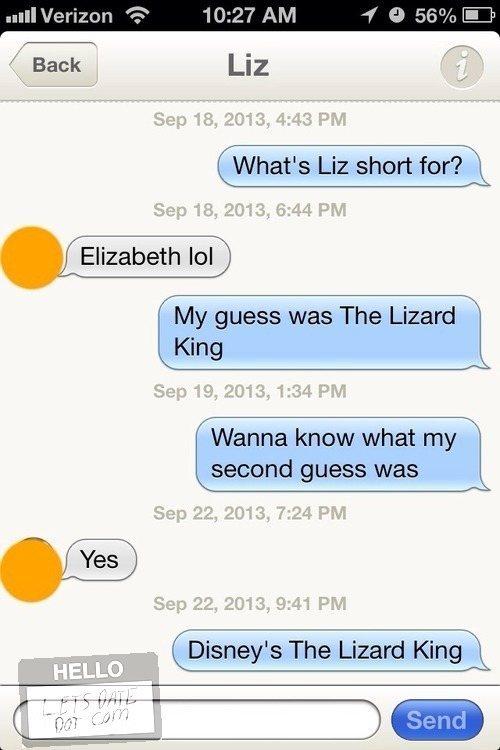 Tinder Lines Elizabeth