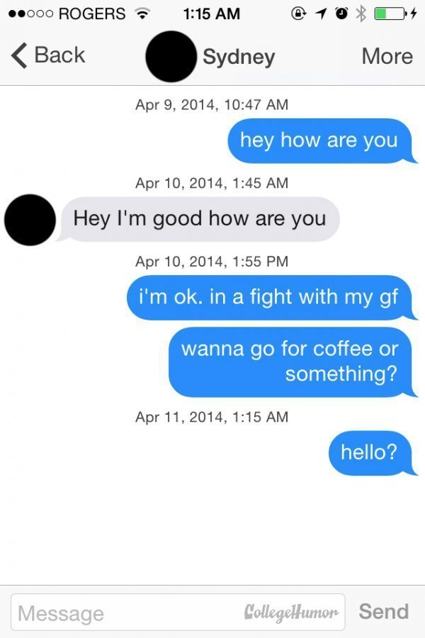 Tinder Lines Girlfriend Fight