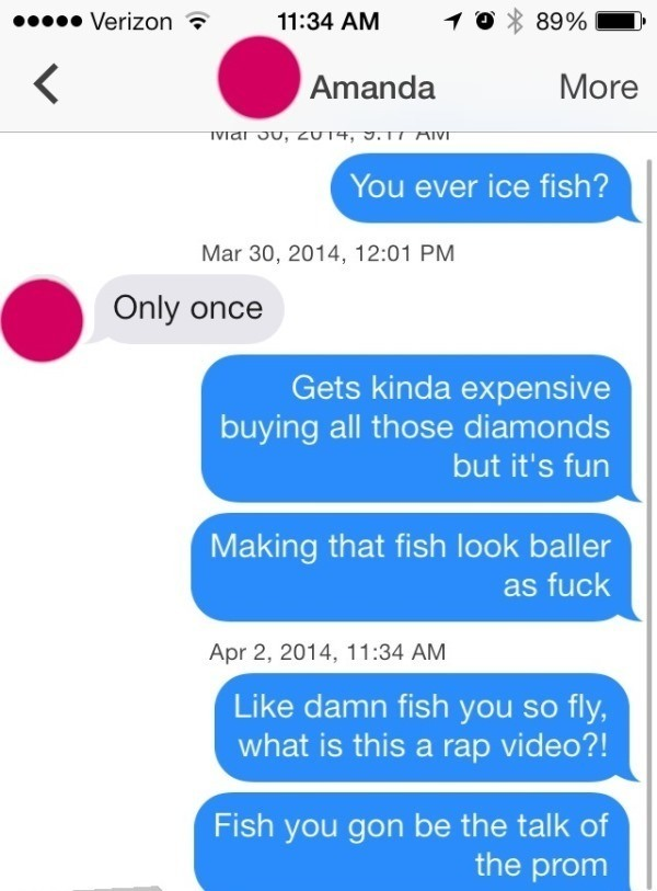 Tinder Lines Ice Fishing