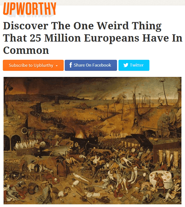 Upworthy Headlines The Plague