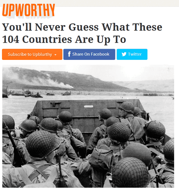 Upworthy Headlines World War 2