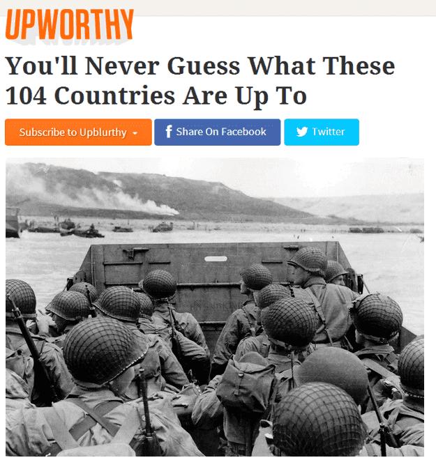 Upworthy Headlines World War 2