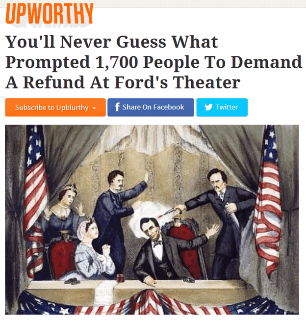 Upworthy Lincoln Assassination